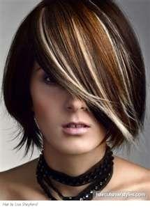 Medium Hair Highlights Idea