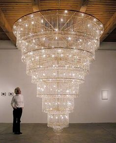 Ai Weiwei - Chandelier I like the way its really large scale and bright