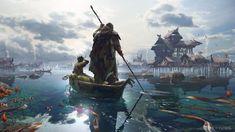 ArtStation - Fall Of Gods - Fishing Village, Simon Fetscher
