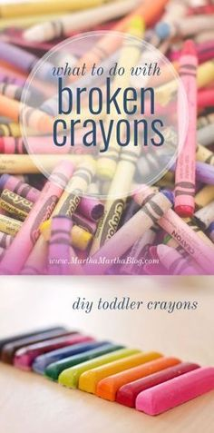 What to Do with Broken Crayons: Make Your Own DIY Toddler Crayons - Martha, Martha