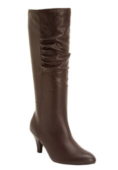 This gorgeous boot featuring a slightly scrunched shaft pairs  beautifully with…