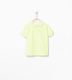 ZARA - KIDS - Organic cotton polo shirt with crest