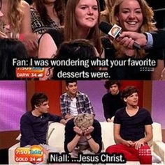 So he freaks out when somebody asks him what his favorite dessert was and then when somebody is in labor he just sits there? Lol!!