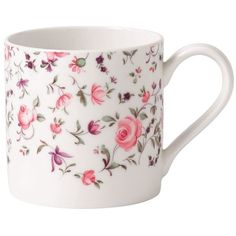 Royal Albert Rose Confetti Modern Mug (€9,55) ❤ liked on Polyvore featuring home, kitchen & dining, drinkware, modern drinkware, pink mug, modern mugs, rose mug and royal albert
