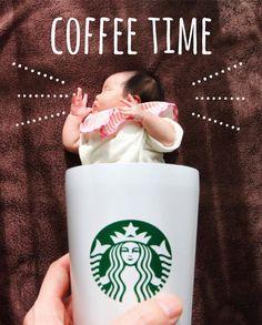 娘が寝てくれたので今から一休み…☕️ 毎日午前中と夕方、夜寝る前は怒涛の家事&育児タイムでヘトヘト〜 ❇︎ ❇︎ #寝相アート #コーヒー #スタバ #親バカ #子育て #育児 #ベビフル #新米ママ #0歳 #1ヶ月 #赤ちゃん # #baby #babygirl