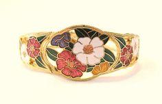 Cloisonne Clamper Bangle Bracelet Floral by JuleesTreasures, $20.00