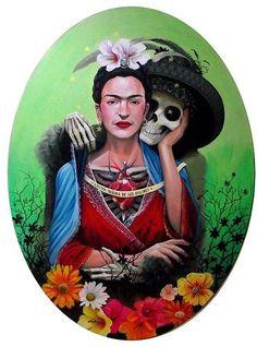 Frida Kahlo   - Day of the Dead Sugar Skull Celebration