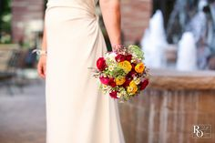 Wildflower bouquet with ranunculus, Randall Olsson Photography