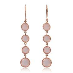 pink quartz earrings