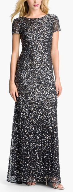 Charcoal sparkle gown by Adrianna Papell http://rstyle.me/n/vivp2n2bn
