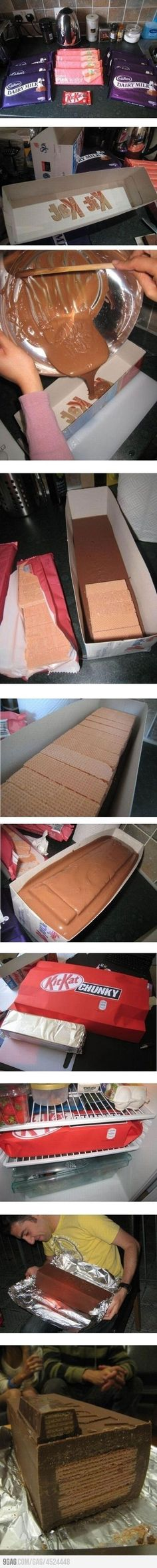 Kit Kats im absolutely doing this, so cool