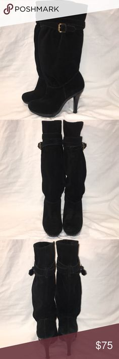 Michael Kors suede boots Beautiful Suede boots with 4 inch heel. Comfortable to walk in. KORS Michael Kors Shoes Heeled Boots