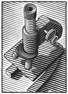 Woodcut Stew by Mitch Frey, via Behance. to me this is the ultimate form of inking. every line tells a part of the story