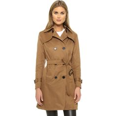 Sincerely Jules Camille Trench Coat ($170) ❤ liked on Polyvore featuring outerwear, coats, almond, double breasted trench coat, long sleeve coat, lightweight coats, brown trench coat and lightweight trench coat
