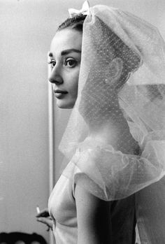 Audrey Hepburn photographed on the set of Funny Face (1957)