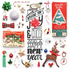 SUBMISSION: Holidays Organized Neatly greeting card - typography and photography by Lauren Manning  Available on Etsy at 23&10