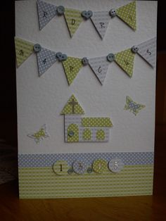 Handmade personalised Christening card made for my friend's grandson