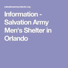 Information - Salvation Army Men's Shelter in Orlando