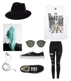 """""""Untitled #6"""" by vieveg on Polyvore featuring Wet Seal, Topshop, Vans, Maison Michel, Ray-Ban, women's clothing, women's fashion, women, female and woman"""