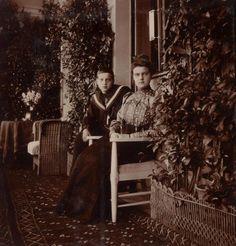 Grand Duke Dmitri Pavlovich Romanov of Russia and Grand Duchess Maria Pavlovna Romanova of Russia.
