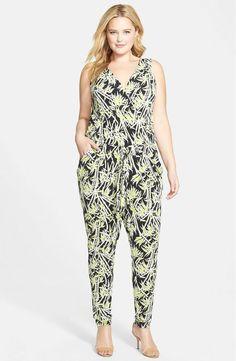 4506d1b33043 Michael Kors Women s Sleeveless Summer Jumpsuit Bamboo Jumpsuit Plus Sz 3X   MichaelKors  Jumpsuit Trendy