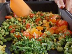 Roasted Edamame Salad recipe from Alton Brown via Food Network