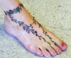 nice foot tattoo