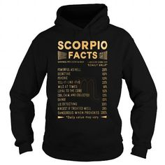 SCORIO FACTS T SHIRT #Scorpio