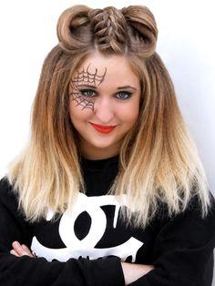 How to do half-up Halloween hair - tutorial
