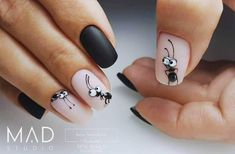 Cute Nail Art, Cute Nails, Nail Manicure, Gel Nails, Milky Nails, Bright Nail Art, Gel Nail Art Designs, Nail Art For Beginners, Tribal Nails