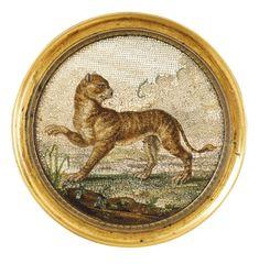 'Tigre'. rare plaque en micromosaic. Sotheby's.