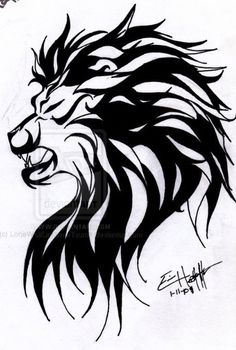 Too big for me but this tribal lion tattoo would look good on a guy. Maybe on the chest with the mane wrapped around the shoulder
