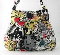 Graffiti tote messenger bag diaper bag purse handbag by daphnenen