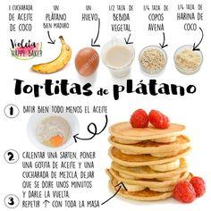 Tortitas de plátano fáciles, rápidas y saludables #tortitasdeplatano #tortitas