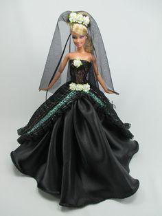 Barbie Doll Wedding Gown Dress with veil Royalty Manfah 6