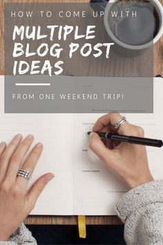 Do you get mind blanks when trying to think of new blog post ideas? This is your ultimate guide to coming up with multiple blog post ideas from one weekend trip!