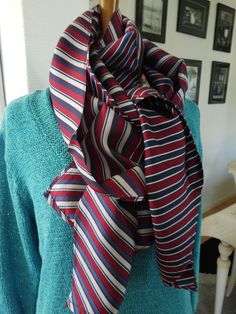 Snood or infinity scarf made circular scarf (2 different, like a ... 51af401d3da