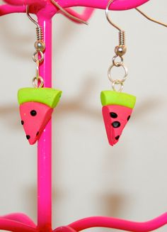 Watermelon Earrings  Polymer Clay  Kawaii  OOAK  Handmade