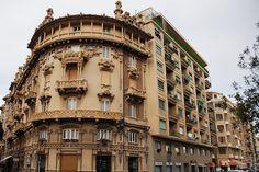 """Baroque architecture"" in the streets of Savona, Liguria region, Italy."