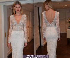 Berta Bridal 2015 Fall/Winter Collection #couture #longsleeve #bridalgown #sparkle #lowback