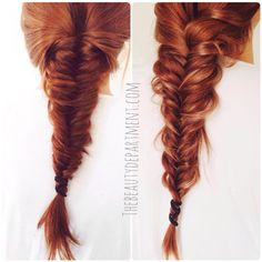 If you have a solid hair color, like red, brown or black and have trouble getting texture to show up in your braid, try this amazing trick!
