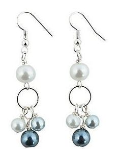 LAST PAIR Pretty Pearl Dangle Earrings by HumbleDreamingTree