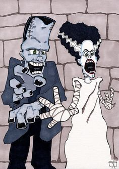 Frankenstein's Monster & Bride of | Flickr - Photo Sharing!