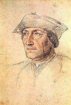 Portrait probable de Louis de Brézé, école de Jean Clouet (1475–1540) Chantilly - Comte de Maulévrier, Grand sénéchal de Normandie (1494-1499).  Né 1463, décès 23 juillet 1513 (à 68 ans) à Anet. Conjoint (1°) Catherine de Dreux ( 1480-1512), (2°) Diane de Poitiers. Enfants :(2°) Françoise de Brézé  et Louise de Brézé.- Fils aîné de Jacques de Brézé et de Charlotte de Valois il posséde la seigneurie d'Anet. En ligne illégitime il est est le petit-fils de Charles VII et d'Agnès Sorel, sa…