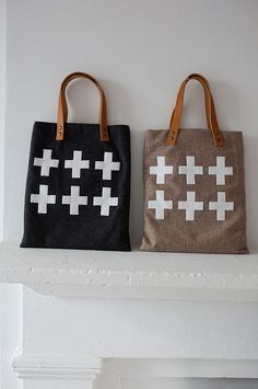 Cross Tote Bags_Zakka Sewing.jpg by Sarah S. Moon, via Flickr