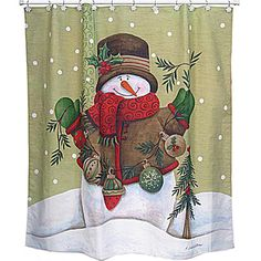 snowman shower curtain set on pinterest shower curtain sets snowman