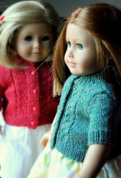 caroline d.h.: The American Girl Doll Retro Cardi Free Knitting Pattern is Ready!