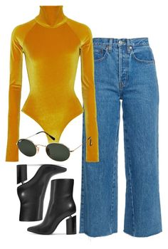 """""""Untitled #2033"""" by vogueandmanolos ❤ liked on Polyvore featuring Alix, Alexander Wang and Ray-Ban"""