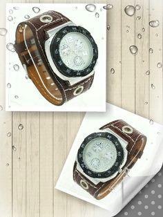 Reloj correa marrón piel sintética - 9€ Ref: R105