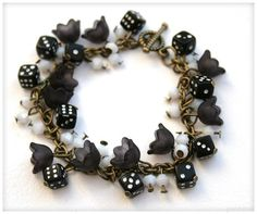 Flower cluster beaded bracelet made by Marilii M?tlik from LC.Pandahall.com